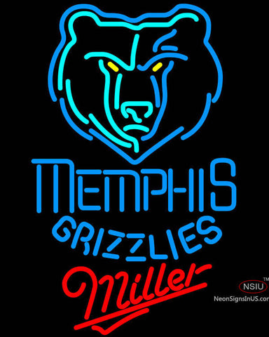 Miller Memphis Grizzlies NBA Neon Sign