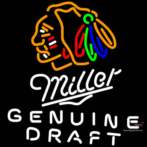 Miller Genuine Draft Sf Football Neon Beer Sign