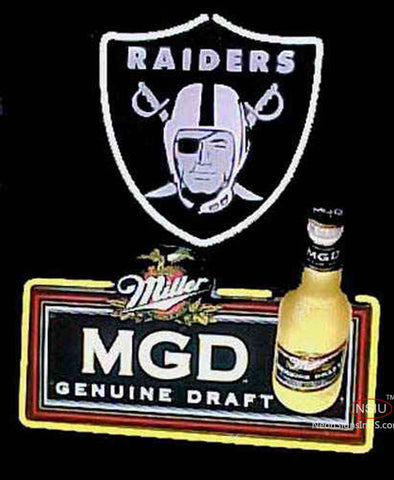 Miller MGD Raiders Neon Signs