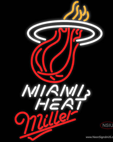 Miller Miami Heat NBA Neon Sign