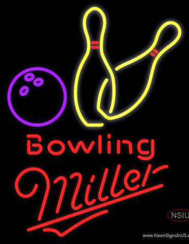 Miller Neon Bowling Neon Yellow Signs  7