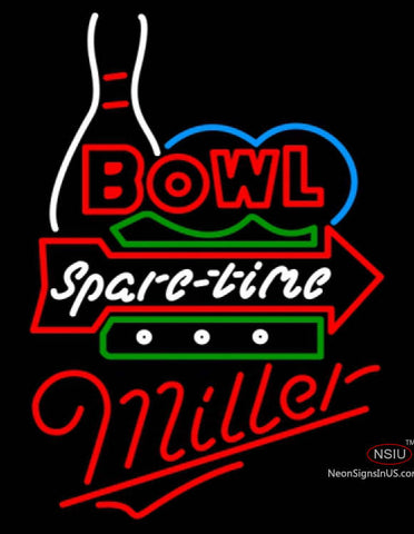 Miller Neon Bowling Spare Time Neon Sign