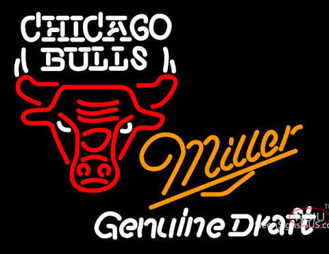 Miller Chicago Bulls Draft Neon Beer Sign