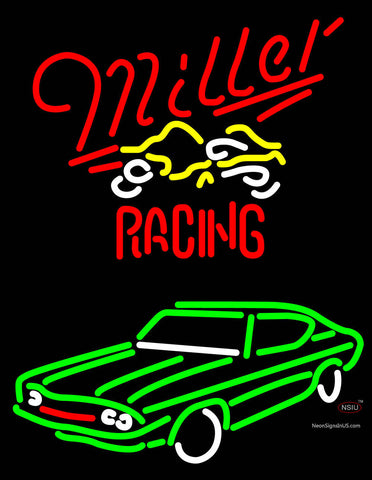 Miller Racing Nascar Neon Beer Sign