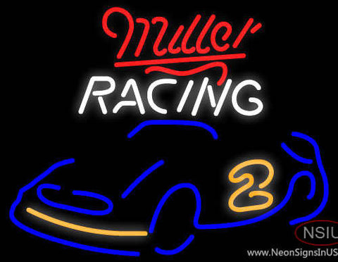 Miller Racing Rusty Wallace Car Neon Beer Sign