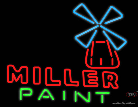 Miller Paint Neon Beer Sign