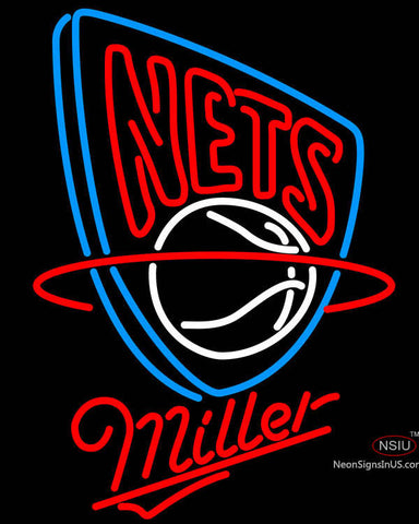 Miller New Jersey Nets NBA Neon Sign