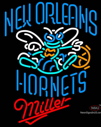 Miller New Orleans Hornets NBA Neon Sign