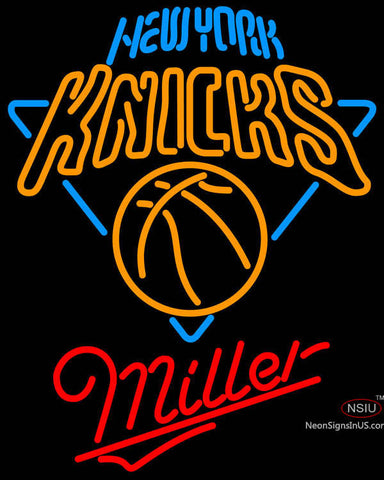 Miller New York Knicks NBA Neon Sign