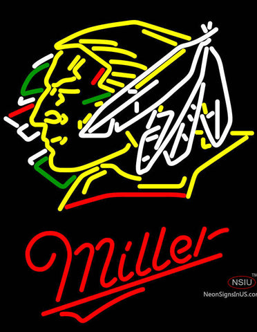 Miller North Dakota Fighting Sioux Hockey Neon Sign