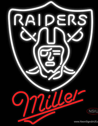 Miller Oakland Raiders NFL Neon Sign