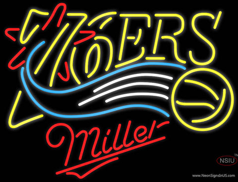Miller Philadelphia 7ers NBA Neon Sign