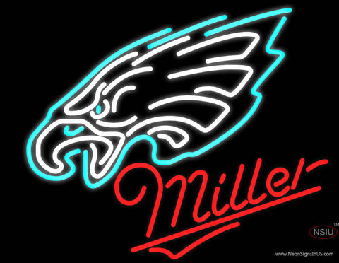 Miller Philadelphia Eagles NFL Neon Sign