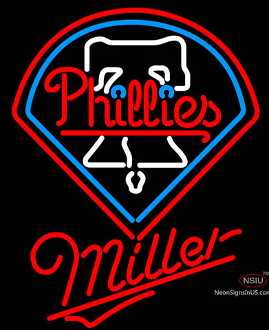 Miller Philadelphia Phillies MLB Neon Sign