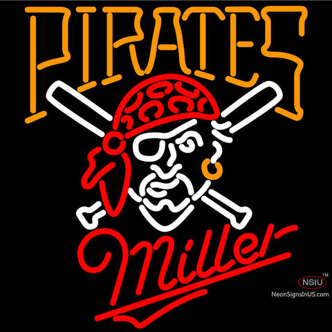 Miller Pittsburgh Pirates MLB Neon Sign