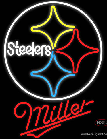 Miller Pittsburgh Steelers NFL Neon Sign