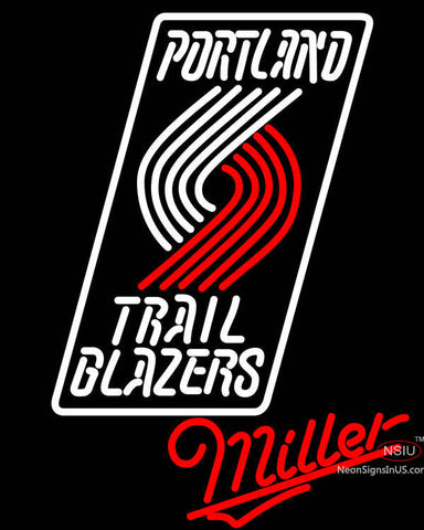 Miller Portland Trail Blazers NBA Neon Sign