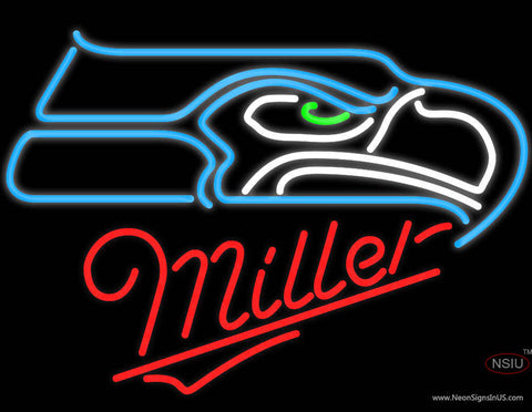 Miller Seattle Seahawks NFL Neon Sign