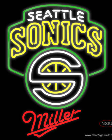Miller Seattle Supersonics NBA Neon Sign