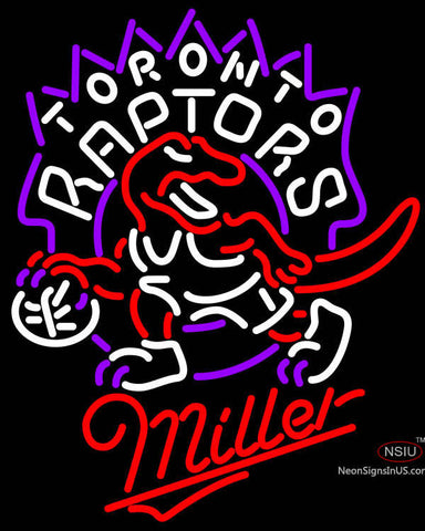 Miller Toronto Raptors NBA Neon Sign