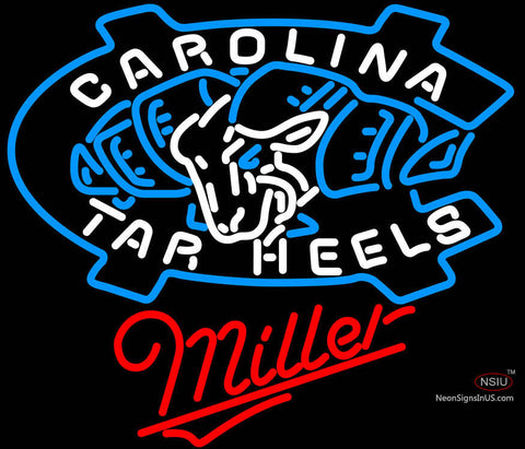 Miller Unc North Carolina Tar Heels Neon Sign