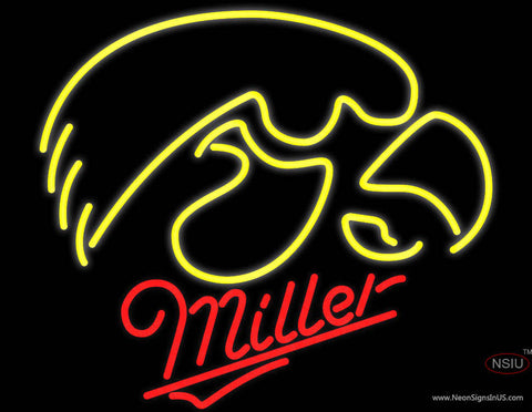Miller University of Iowa Hawkeyes Neon Sign