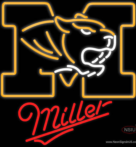Miller University of Missouri neon sign