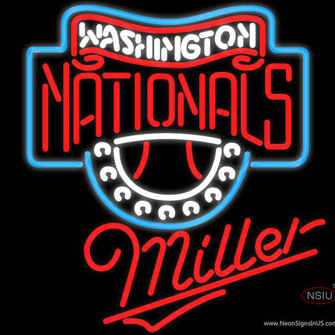 Miller Washington Nationals MLB Neon Sign