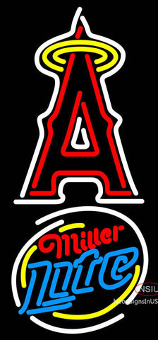 Miller Light Rounded Anaheim Angels MLB Neon Sign