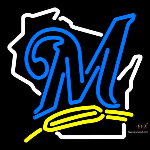 Milwaukee Brewers Alternate  Pres Logo MLB  Neon Sign x