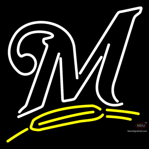 Milwaukee Brewers Alternate  Pres Logo MLB  Neon Sign