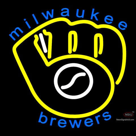 Milwaukee Brewers Primary 7  Logo MLB  Neon Sign x