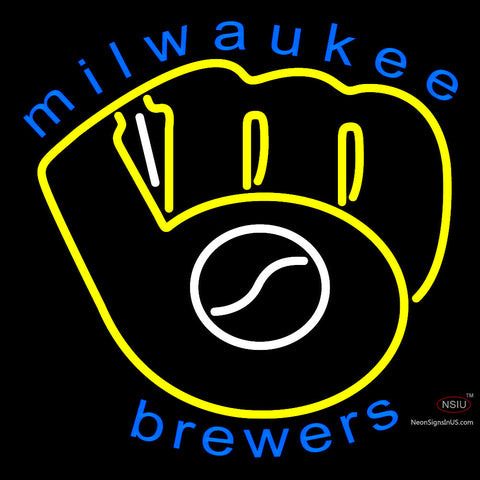 Milwaukee Brewers Primary 7  Logo MLB Neon Sign