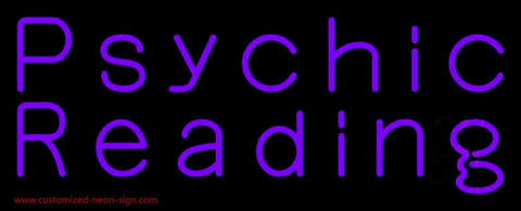 Purple Psychic Reading Handmade Art Neon Sign