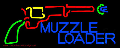Muzzle Loader Handmade Art Neon Sign