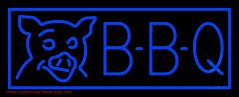 Blue BBQ Neon Sign
