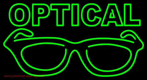Optical With Glass Logo Handmade Art Neon Sign