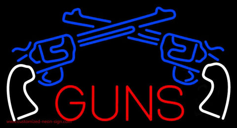Two Gun Logo Handmade Art Neon Sign