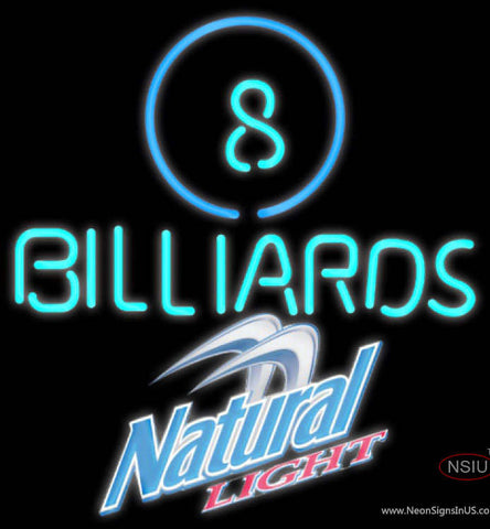 Natural Light Ball Billiards Pool Neon Sign