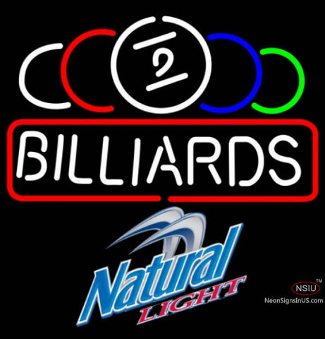 Natural Light Ball Billiards Text Pool Neon Sign   x