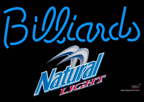 Natural Light Billiards Text Pool Neon Sign  7