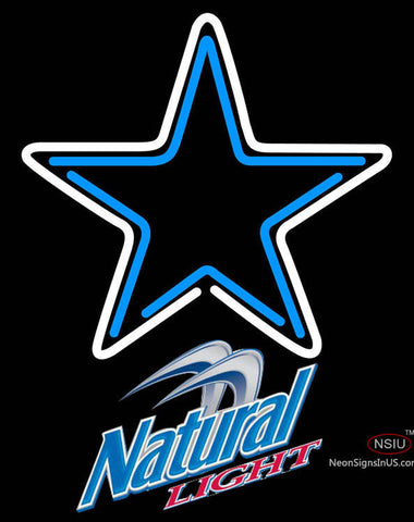 Natural Light Dallas Cowboys NFL Neon Sign