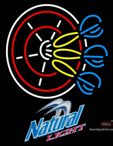 Natural Light Darts Pin Neon Sign