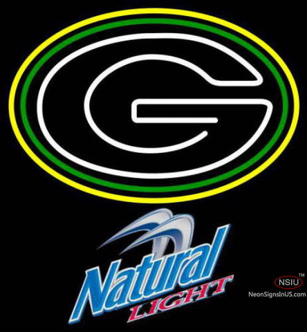 Natural Light Green Bay Packers NFL Neon Sign