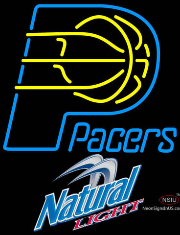 Natural Light Indiana Pacers NBA Neon Sign