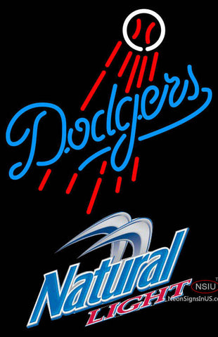Natural Light Los Angeles Dodgers MLB Neon Sign  7