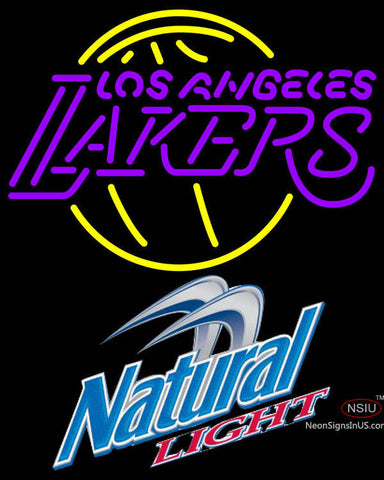 Natural Light Los Angeles Lakers NBA Neon Sign