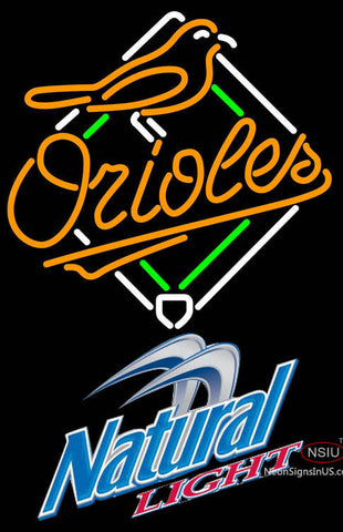 Natural Light Baltimore Orioles MLB Neon Sign