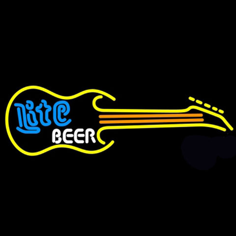 Miller Lite Guitar Beer Neon Light