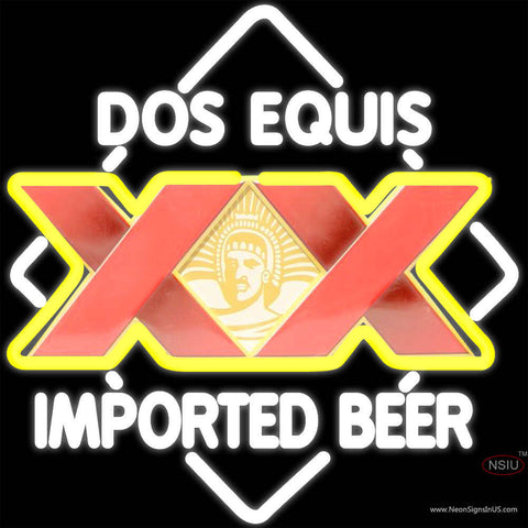 DOS Equis Imported Beer Neon Sign
